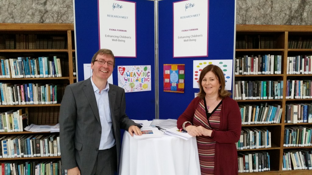 Fiona and Mick at our Researchmeet Stand - Féilte 2015