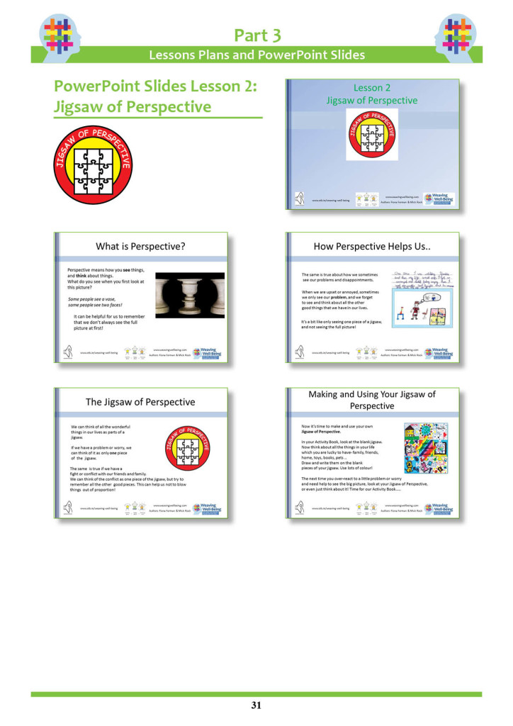 Tools of Resilience Teacher Book- Lesson Plan Sample - PowerPoint Slides