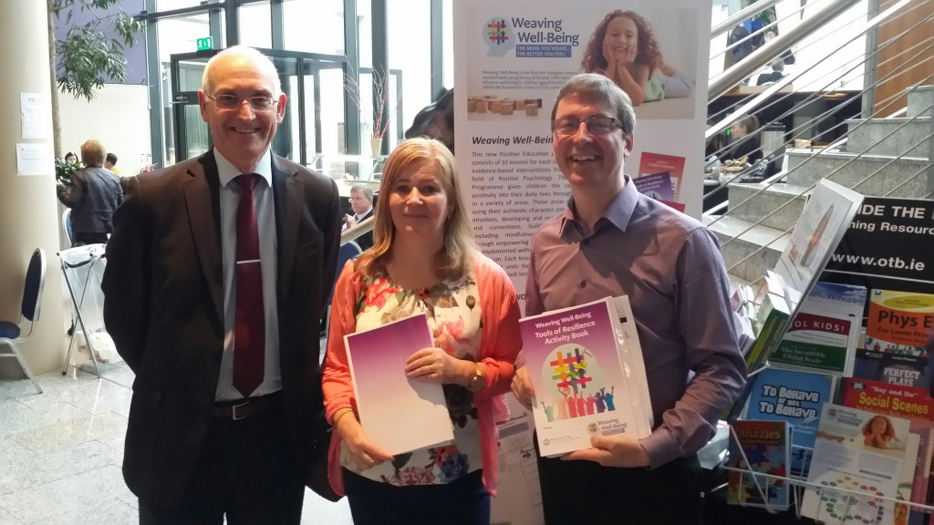 Paul Rowe, the CEO of Educate Together with Fiona and Mick
